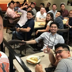 lunch at simplus philippines office
