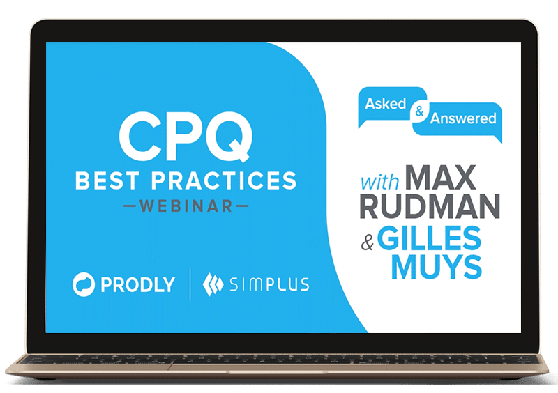 CPQ best practices webinar with simplus and prodly
