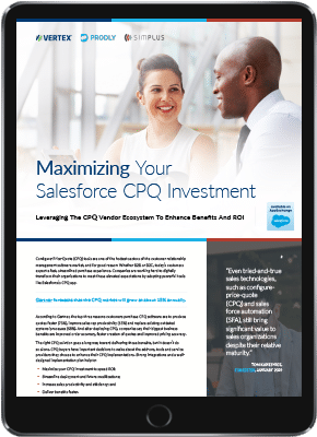 Maximizing Your Salesforce CPQ Investment preview