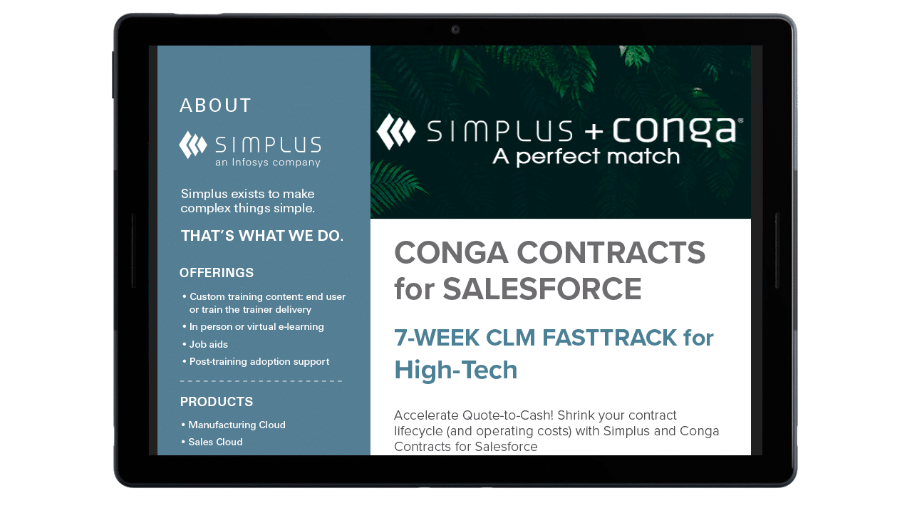 Conga CLM FastTrack One-Sheet thumb